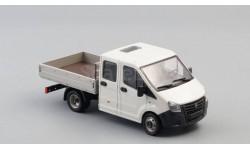 ГАЗель NEXT A22R23 бортовой, белый / серый, масштабная модель, Наш Автопром, scale43