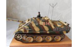 ТЯЖЕЛАЯ  САМАХОДНО-АРТИЛЛЕРИЙСКАЯ УСТАНОВКА   Jagdpanter  (Sd.  Kfz.  173) образца 1944г., сборные модели бронетехники, танков, бтт, 1:35, 1/35, САМОДЕЛКА.