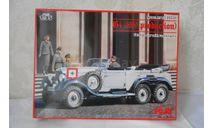 1 : 35  МЕРСЕДЕС  G4  1939года с фигурками.   ICM  КИТ, сборная модель автомобиля, scale35, Mercedes-Benz