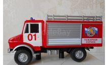 MERCEDES - BENZ UNIMOG  пожарный. CARARAMA, масштабная модель, scale50, Bauer/Cararama/Hongwell, Mercedes-Benz