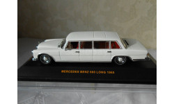 лимузин  Mercedes Benz 600 LONG  белый 1965 IXO 1:43