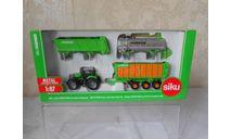 SIKU 1:87 МОДЕЛЬ ТРАКТОРА DEUTZ-FAHR  Tractor with Joskin Trailer Set. SIKU ( ГЕРМАНИЯ)                  ), железнодорожная модель, scale87, DEUTZ - FAHR