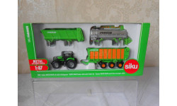 SIKU 1:87 МОДЕЛЬ ТРАКТОРА DEUTZ-FAHR  Tractor with Joskin Trailer Set. SIKU ( ГЕРМАНИЯ)                  ), масштабная модель трактора, 1/87, DEUTZ - FAHR
