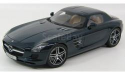 Мерседес Бенц Mercedes Benz SLS AMG (C197) Daytona blue metallic Premium Classixxs 1:12 10601, масштабная модель, 1/12, Mercedes-Benz