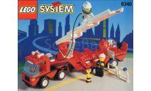 набор Конструктор Лего Грузовик с полуприцепом Пожарный Lego 6340 1995 год Раритет 100 % Оригинал, масштабная модель, 1:43, 1/43