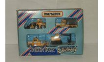 Набор 3 модели трактор Экскаватор + Бульдозер + Грузовик с полуприцепом Matchbox старый 1:64, масштабная модель, 1/64, Kenworth