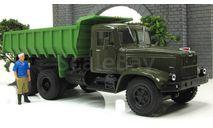 КрАЗ 256 Б1 самосвал, хаки/зеленый 1987 СССР НАП Наш Автопром 1:43 H773h, масштабная модель, scale43