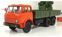 МАЗ 514 бортовой, оранжевый/зеленый 1966 СССР НАП Наш Автопром 1:43 H298, масштабная модель, scale43