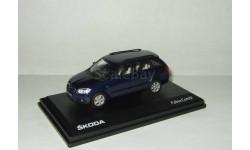 Skoda (Шкода) Fabia II Универсал Темно-синий Abrex 1:43, масштабная модель, 1/43, Škoda