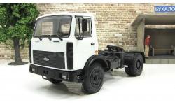 Маз 5433 (1991-1997) седельный тягач, белый СССР НАП Наш Автопром 1:43