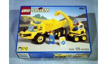 Большой набор Конструктор Лего Набор Самосвал + Экскаватор Lego 6581 1995 год Раритет 100 % Оригинал, масштабная модель, 1:43, 1/43