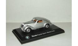 Skoda (Шкода) Popular Sport Monte Carlo 1935 Серебристый Abrex 1:43, масштабная модель, 1/43, Škoda