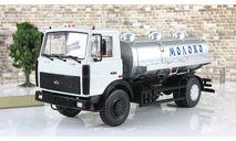 Маз 5337 Цистерна АЦИП 7,7 Молоко 1990 СССР АИСТ Автоистория 1:43, масштабная модель, 1/43, Автоистория (АИСТ)