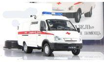 Газ 32214 Газель Скорая медицинская помощь IXO IST Автомобиль на службе 1:43, масштабная модель, 1/43, Автомобиль на службе, журнал от Deagostini