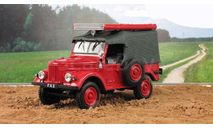 Газ 69 4х4 ПМГ-20 Пожарный СССР IXO IST Автомобиль на Службе 1:43, масштабная модель, Автомобиль на службе, журнал от Deagostini, scale43