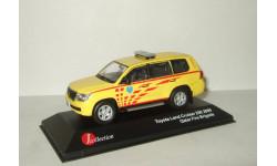 Тойота Toyota Land Cruiser 200 Qatar Fire Brigade 2009 Пожарный J-Collection 1:43 JC256, масштабная модель, 1/43