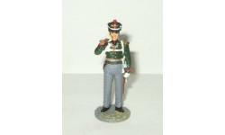 фигурка солдат Обер Офицер Гвардейской пешей артиллерии 1814 г № 74 Наполеоновские войны 1:32, фигурка, scale32