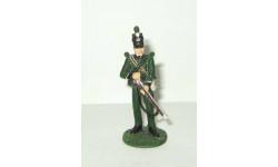 фигурка солдат Рядовой 95 стрелкового полка британской армии 1812 № 31 Наполеоновские войны GE Fabbri 1:32, фигурка, 1/32