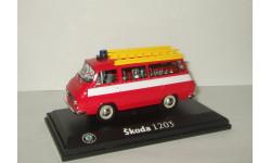 микро автобус Skoda (Шкода) 1203 Пожарная Abrex 1:43, масштабная модель, 1/43