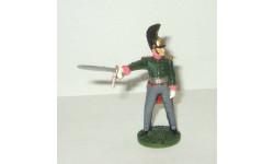 фигурка солдат Офицер Санкт Петербургского драгунского полка 1812 г. № 55 Наполеоновские войны GE Fabbri 1:32, фигурка, scale32