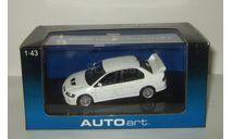 Мицубиси Mitsubishi Lancer Evo VII Evolution 2001 Белая AutoArt 1:43 57162, масштабная модель, 1/43
