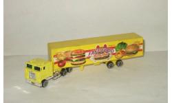 грузовик Мак Mack + полуприцеп Фура Hot Wheels 1:87, масштабная модель, 1/87
