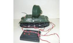 Игрушка Танк КН 72 САУ Самоходная установка 'Прожектор' Сделано в СССР Длина 26 см 1:20, масштабная модель, 1:18, 1/18