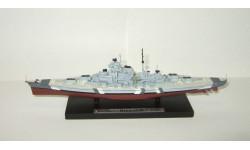 корабль Линкор Бисмарк 1940 Вторая Мировая война Atlas 1:1250, масштабная модель, scale144