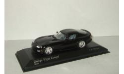 Додж Dodge Viper Coupe 1993 Черный Minichamps 1:43 430144024, масштабная модель, 1/43