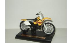 мотоцикл Сузуки Suzuki RM 250 1977 Maisto 1:18 БЕСПЛАТНАЯ доставка, масштабная модель мотоцикла, scale18