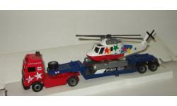 набор Вольво Volvo F + полуприцеп + Вертолет Cararama 1:50, масштабная модель, Bauer/Cararama/Hongwell, scale50