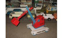 Игрушка трактор Экскаватор 1987 г. СИМ завод 'Серп и Молот' Сделано в СССР 1:18, масштабная модель, scale18