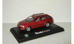 Шкода Skoda Octavia II Универсал Красный Abrex 1:43, масштабная модель, 1/43, Škoda