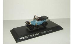 Пежо Peugeot 6 CV Bebe Type B3 P1 1916 IXO Altaya 1:43, масштабная модель, 1/43