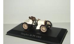 Мерседес Бенц Mercedes Benz Simplex 40 PS 1902 IXO Museum Altaya 1:43 БЕСПЛАТНАЯ доставка, масштабная модель, Mercedes-Benz, scale43