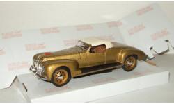 Зис 101 А Спорт Золотой Закрытый 1939 СССР НАП Наш Автопром 1:43, масштабная модель, scale43