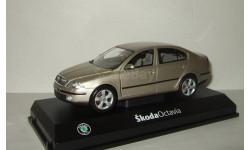 Шкода Skoda Octavia II 2005 Бежевый металлик Abrex 1:24, масштабная модель, 1/24, Škoda
