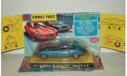 Ягуар Jaguar E Type 2 + 2 1969 Corgi Toys 1:43 Made in GT Britain БЕСПЛАТНАЯ доставка, масштабная модель, scale43