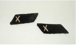 Петлицы Черные бархатные Парадные 2 штуки Род войск Артиллерия СССР 1960-е гг, масштабные модели (другое)