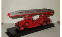 Зис 6 1939 Пожарный ПЭЛ 30 (лестница Metz) 1939 СССР Ломо АВМ 1:43, масштабная модель, ЛОМО-АВМ, scale43
