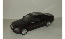Мерседес Бенц Mercedes Benz S class W220 1998 Черный Maisto 1:18, масштабная модель, 1/18, Maisto-Swarovski, Mercedes-Benz