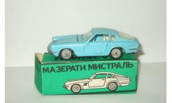 Мазерати Maserati Mistral Coupe 1968 Голубой Ремейк сделано в СССР 1:43, масштабная модель, scale43