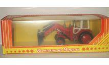 трактор Беларусь МТЗ 82 с Ковшом Красный СССР Компаньон 1:43, масштабная модель, scale43