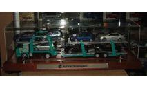 Мерседес Бенц Mercedes Benz Actros 1832 + Полуприцеп Автовоз Lohr + 7 Volkswagen Eligor Артик 1:43 Спецзаказ. Единичное исполнение. Длина 50 см., масштабная модель, 1/43, Mercedes-Benz