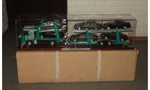 Мерседес Бенц Mercedes Benz Actros 1832 + Полуприцеп Автовоз Lohr + 6 Mercedes CLS Eligor NZG Артик 1:18 Спецзаказ. Единичное исполнение. Длина 1 метр 20 см., масштабная модель, 1/18, Mercedes-Benz