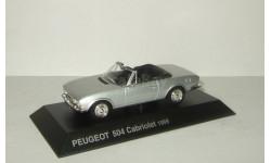 Пежо Peugeot 504 Cabriolet 1969 Altaya 1:43, масштабная модель, 1/43