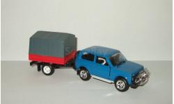 Ваз 21213 Нива Жигули Lada Niva 4x4 + прицеп 1995 Агат Тантал Радон 1:43, масштабная модель, 1/43, Агат/Моссар/Тантал