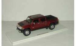 Hummer H3 T pickup 4x4 4WD 2006 Sonoma Red Luxury Collectibles 1:43