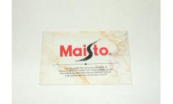 Каталог Маисто Maisto 1990-е, масштабная модель
