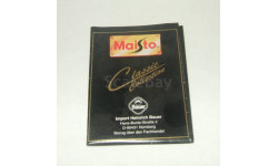 Каталог Маисто Maisto 1990-е (вариант 2), масштабная модель